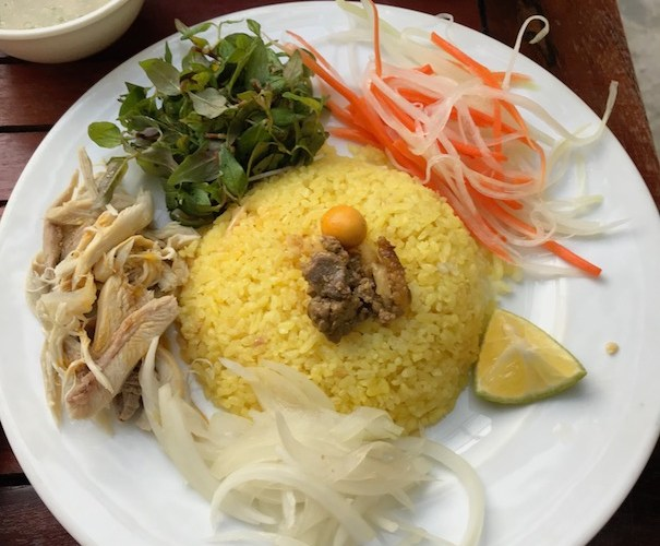 com ga chicken rice at Nostalife Hoi An