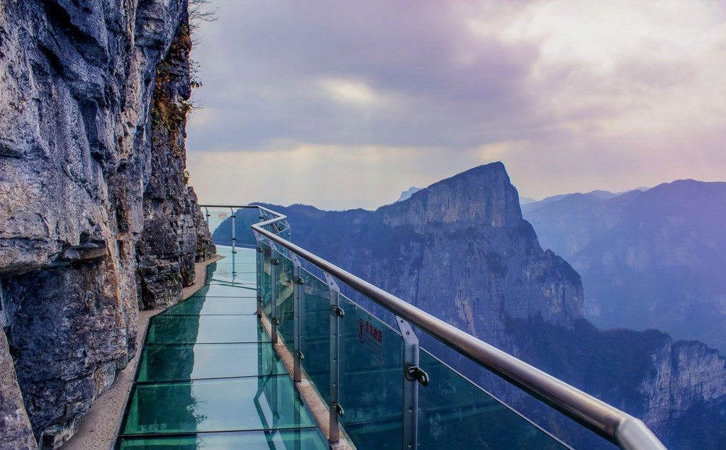 Tianmen Mountain Skywalk Glass Bridge tall