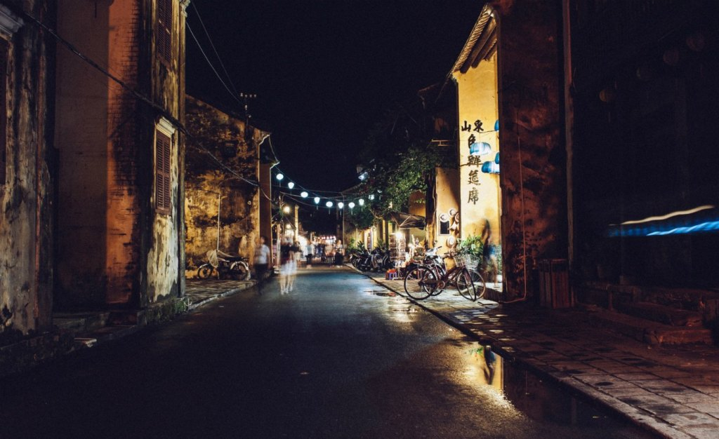 Hoi An at night safety