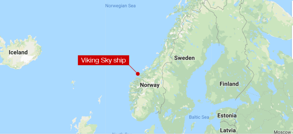 Viking Sky Cruise Ship STranded