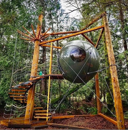 unique glamping in canada - stay in the free spirit spheres on vancouver island british columbia