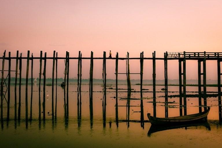 things to do in myanmar - visit the u bien bridge in mandalay