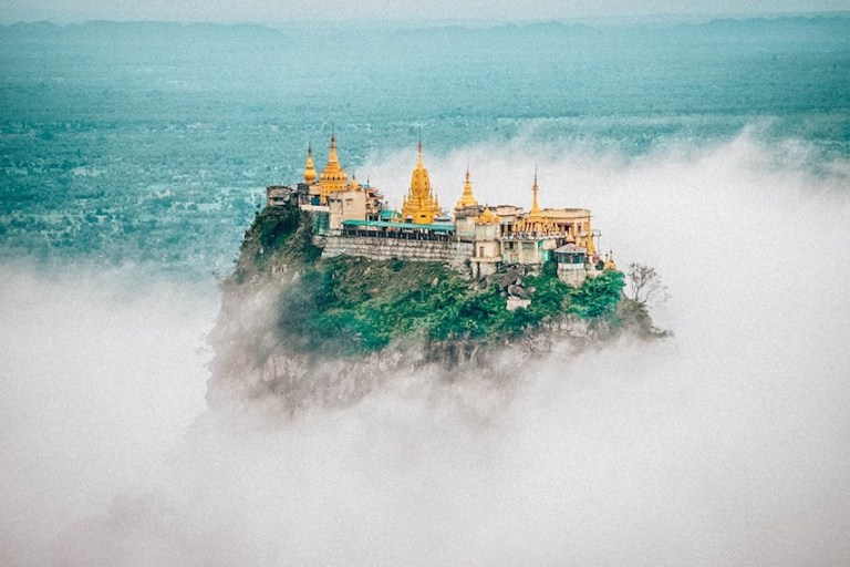 how to get from bagan to mount popa in myanmar