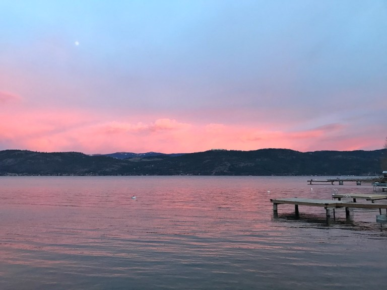 Sunset on Okanagan Lake - Rv living