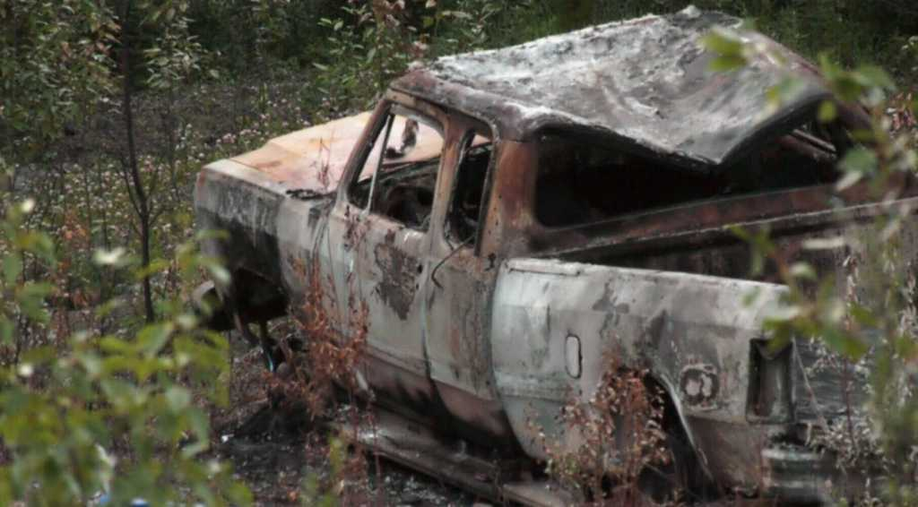 Missing teens truck after being burnt (Photo: RCMP Handout)