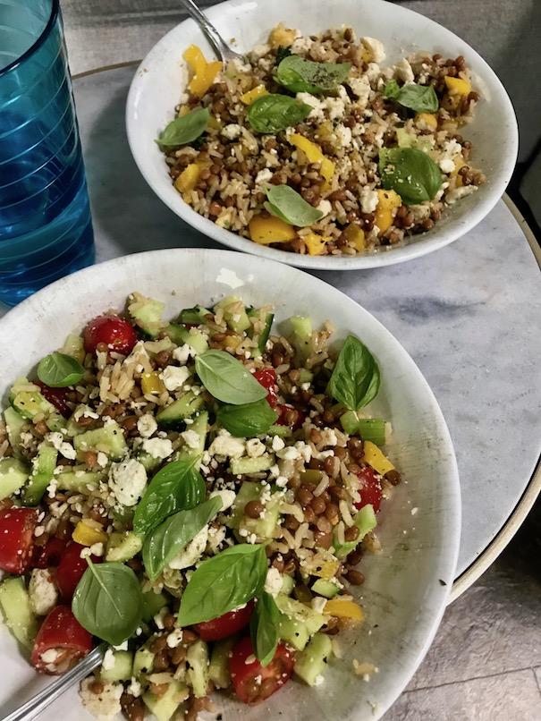Greek lentil bowls - Easy RV recipes
