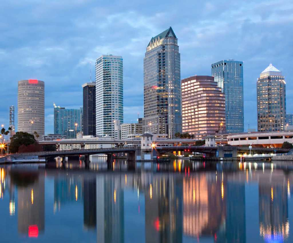 Tampa Florida Second warmest places in the usa