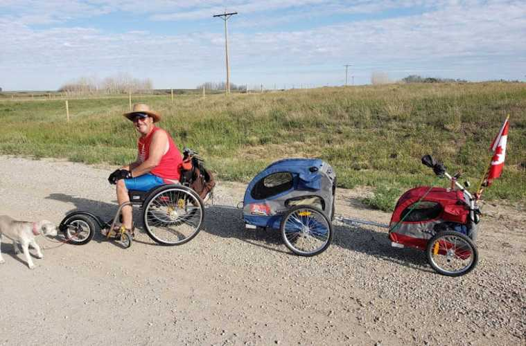 Wheelchair Warren Traveling from Calgary to Mexico Using only His Wheelchair