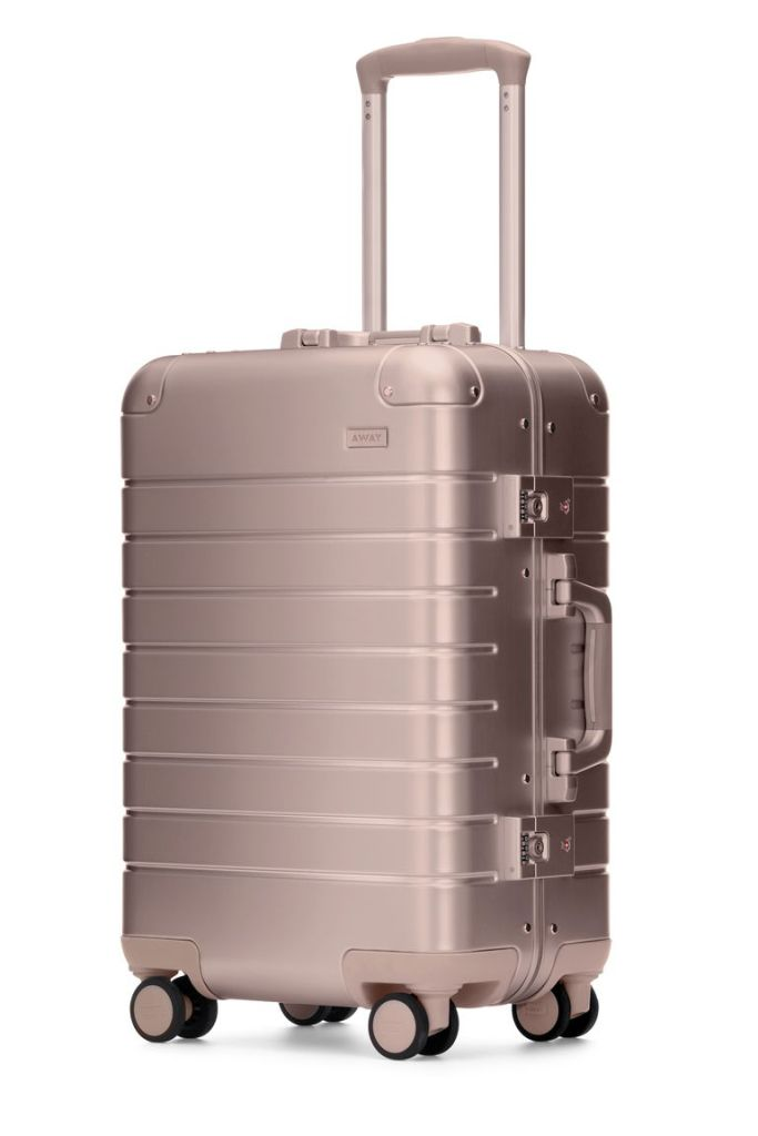 Away makes trendy titanium and rose gold luggage