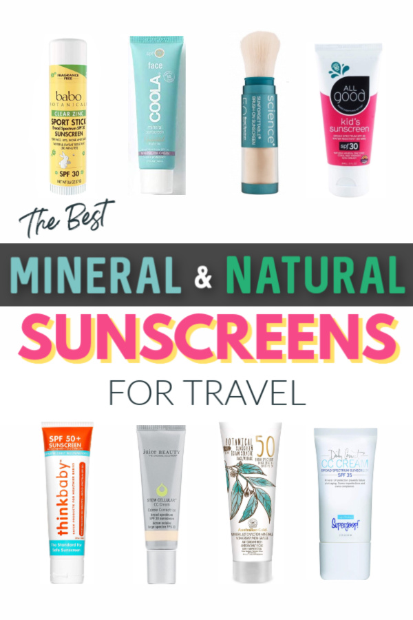 the best mineral and natural sunscreens for travel