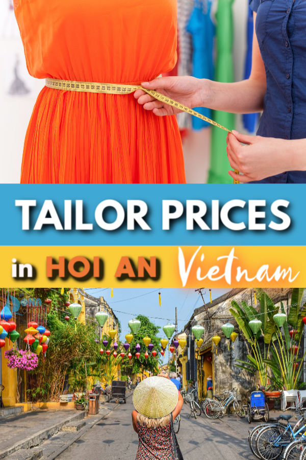 Tailor prices in Hoi An Vietnam