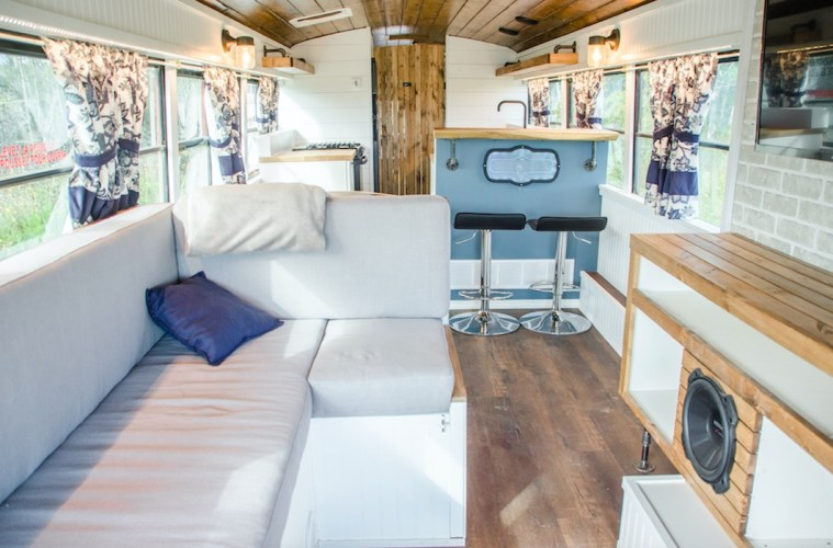 Canadian company turns skoolie buses into tiny homes