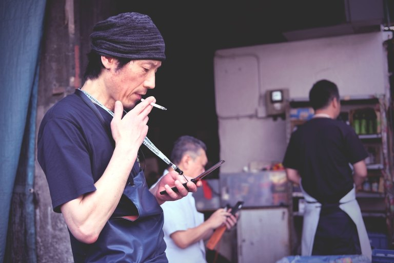 Smoking is still a thing in japan