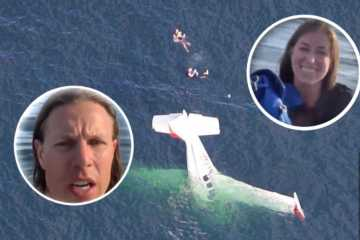 plane crash footage selfie resuce