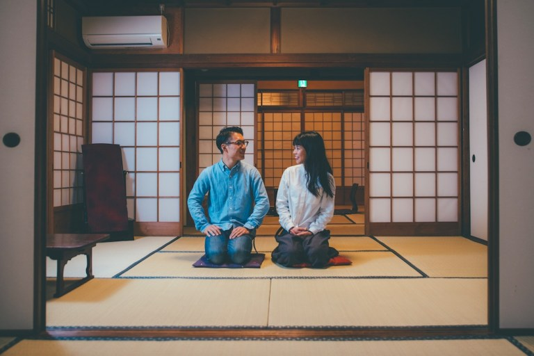 Take your shoes off before entering a house or temple in Japan