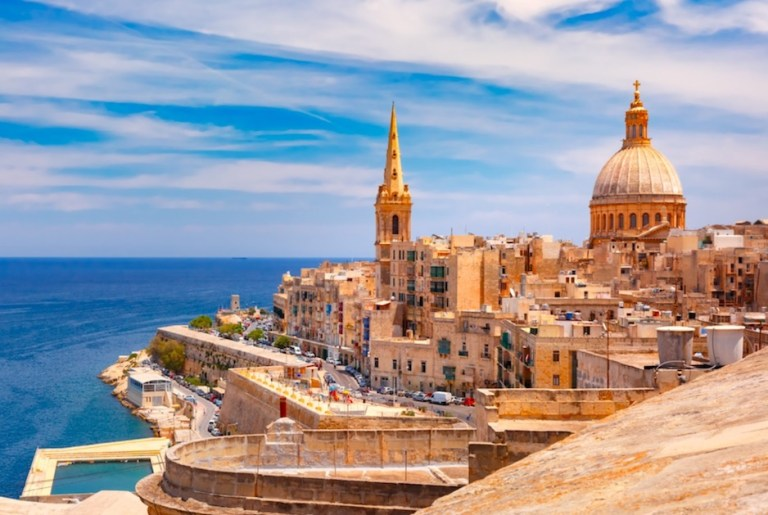 Valletta in malta is one of europes warmest cities in winter