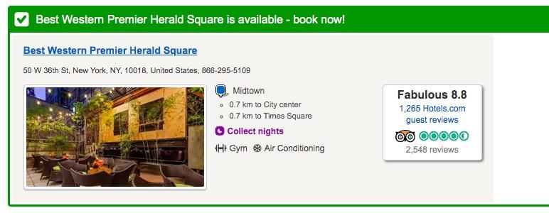 Great hotel in Manhattan under $100
