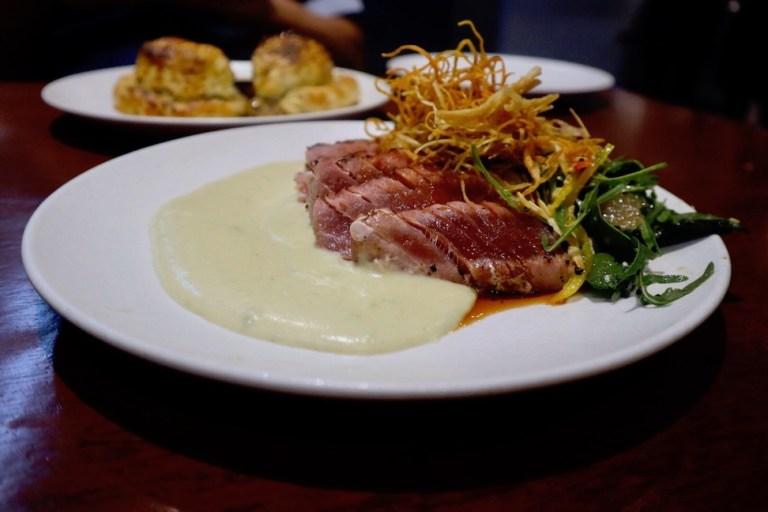 Seared tuna dish at Agatha in Mazatlan