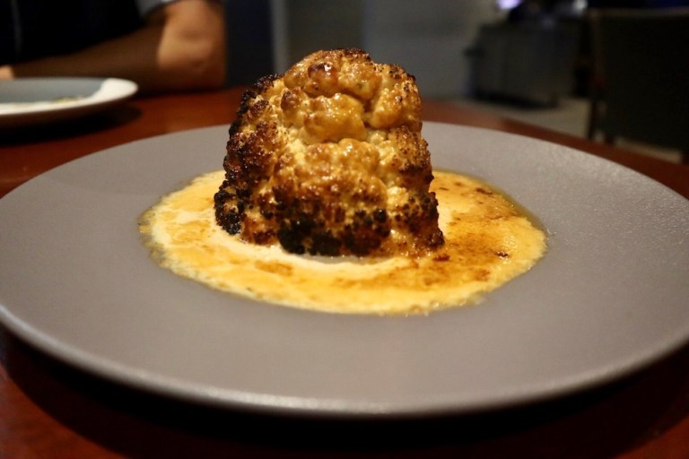 Agatha Mazatlan menu - roasted cauliflower