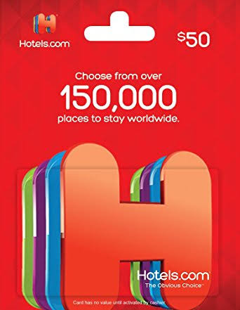 hotel.com gift card - travel christmas gifts