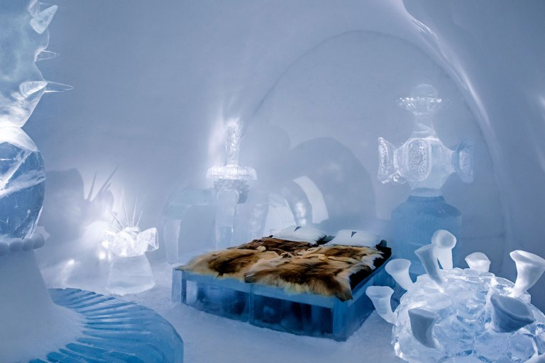 Stay in an ice hotel - sweden