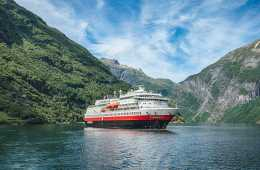 Woman falls off cruise ship and dies in Norway MS Finnmarken