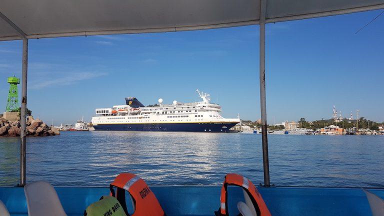 Vidanta cruise ship docked in Mazatlan