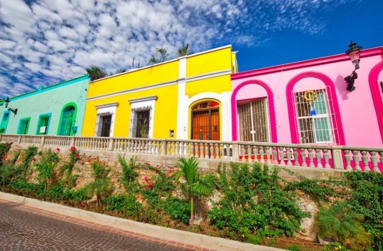 angel flores st - colorful house mazatlan