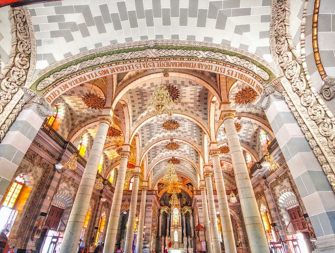 inside of the cathedral mazatlan