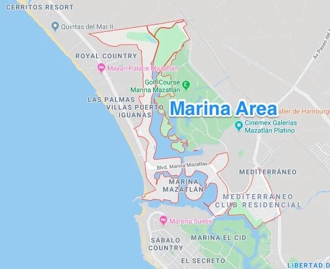 The Marina area in Mazatlan, Sinaloa