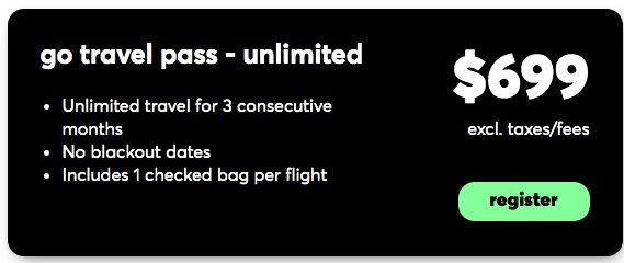 Flair Airline 'Go Travel Pass' $699