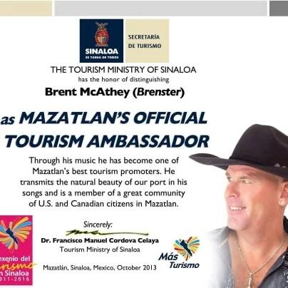 Mazatlans official tourism ambassador