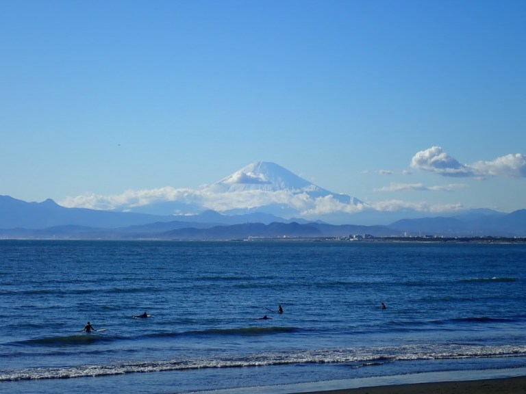 view of mt fuji from kamakura