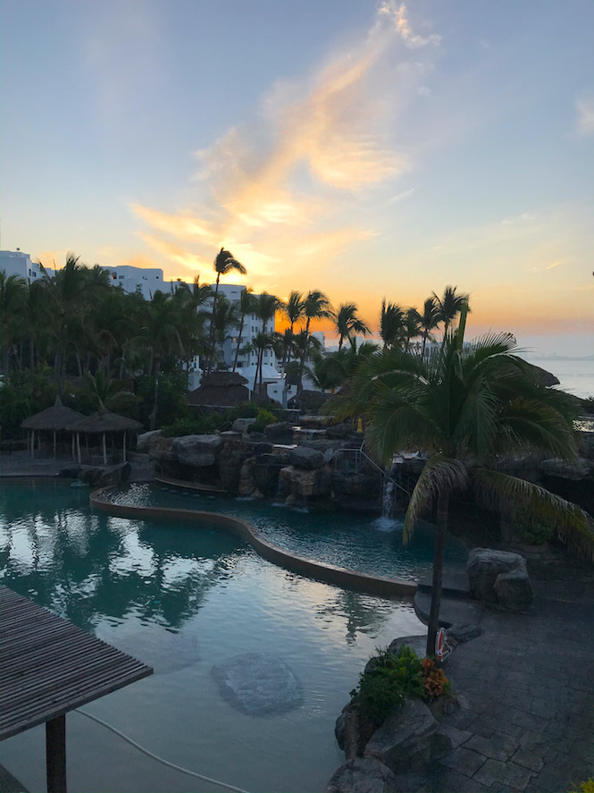 sunrise at the playa mazatlan