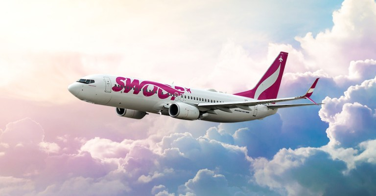 Swoop offer 13 direct flights from winnipeg YWG airport