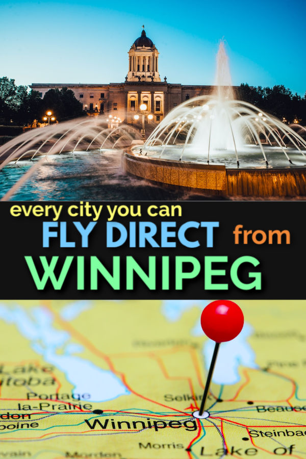 every city you can fly direct from winnipeg ywg