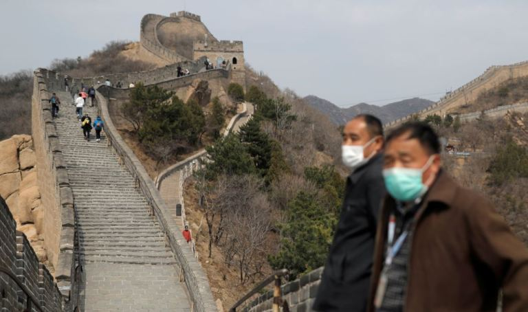 A section of the Great Wall of China that closed due to the coronavirus just reopened to visitors, signaling a return to normalcy
