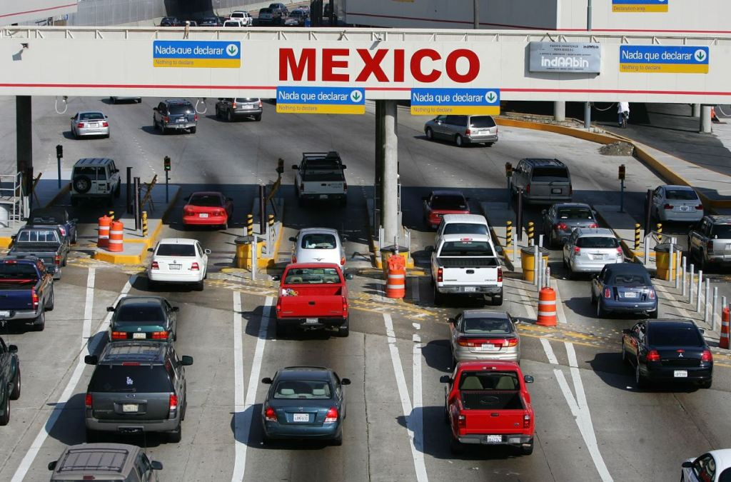 Mexico Border Crossing From United States