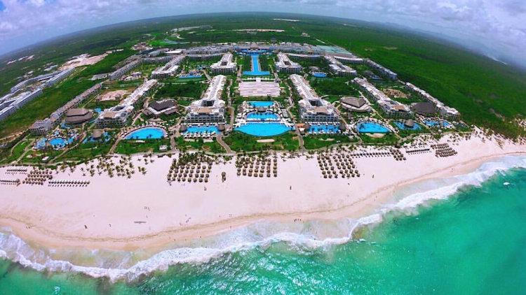 punta cana hotel from sky
