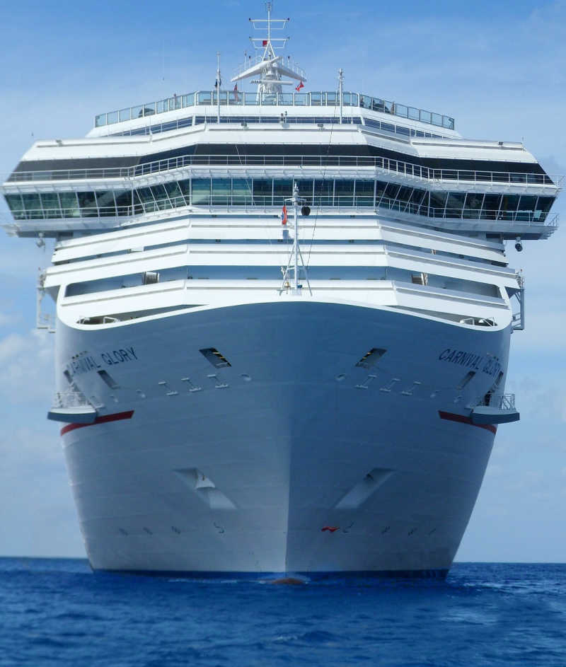 Carnival Glory Cruise Ship from front - Travel Off Path