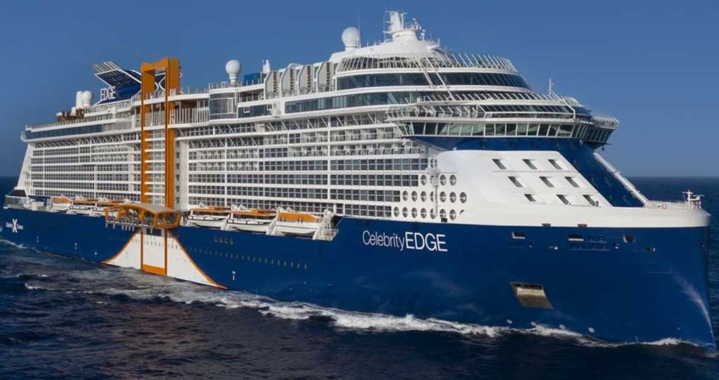 Celebrity edge sailing in ocean