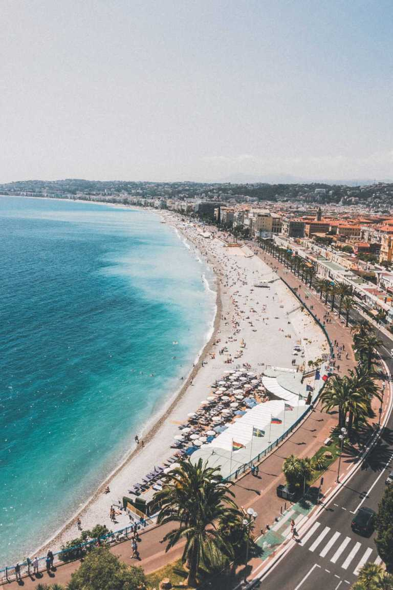 Nice France Beach Packed with tourists
