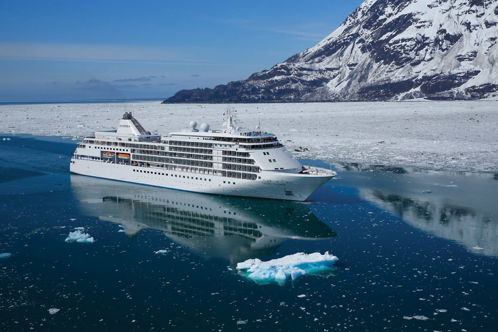 Silversea Cruise ship in Alaska