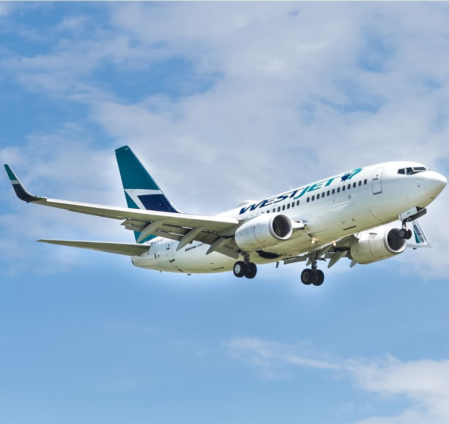 Westjet plane mid flight