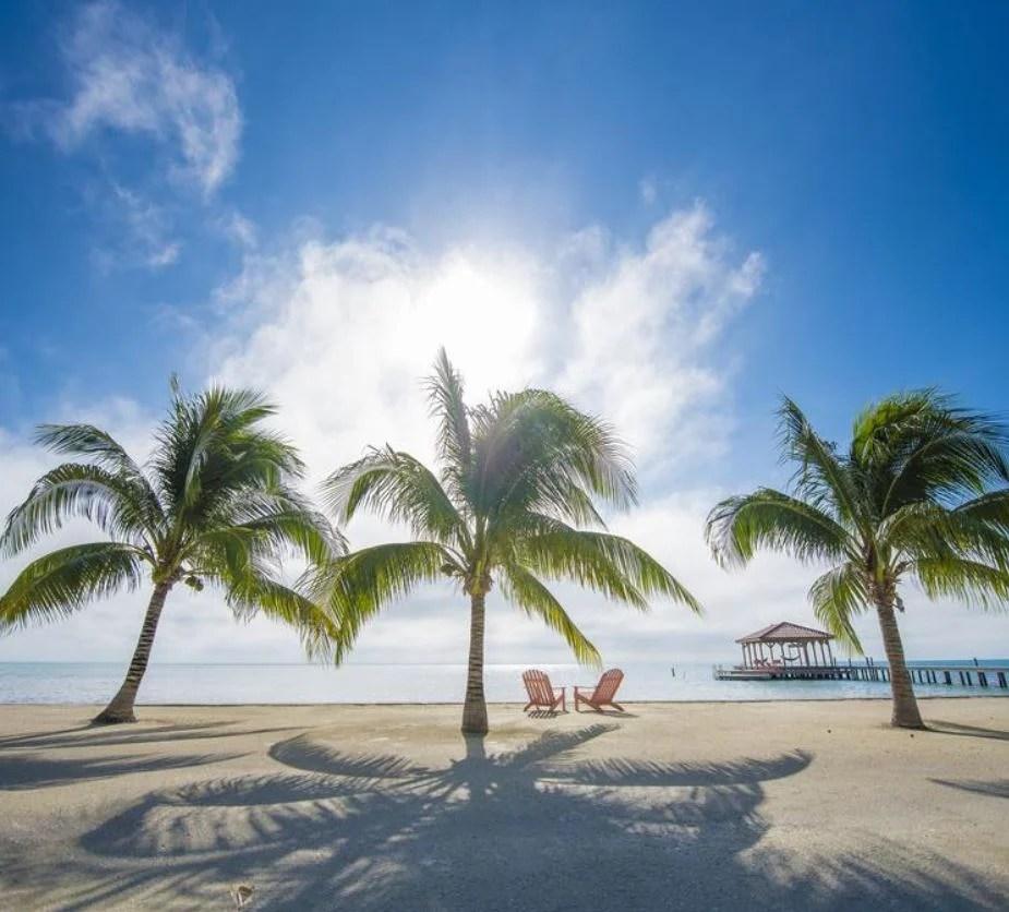belize beach at resort