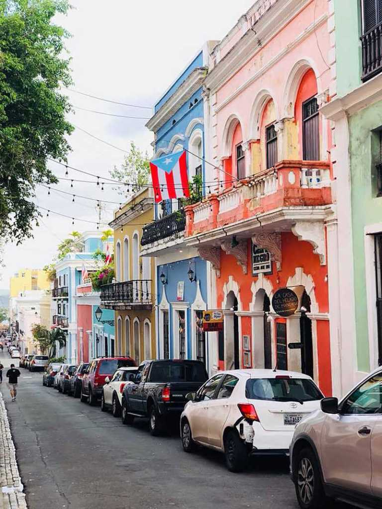 Puerto rico tourist street