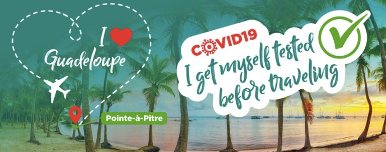 reopening covid tests guadeloupe
