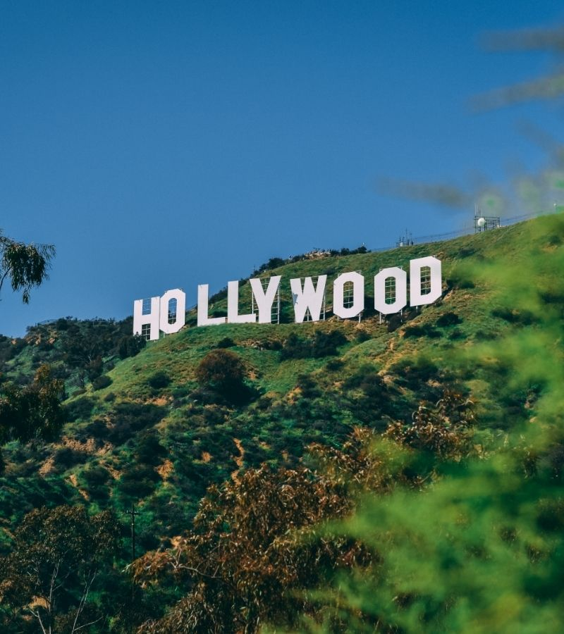 Hollywood sign in the USA