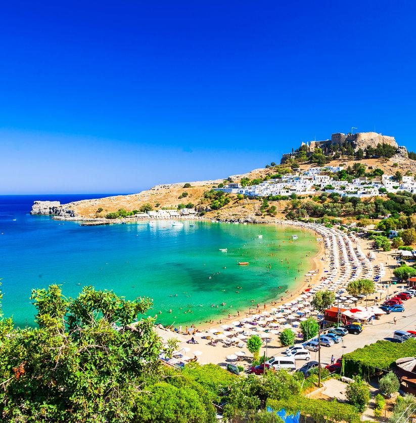 Scenic Rhodes Island, Lindos Bay,Greece