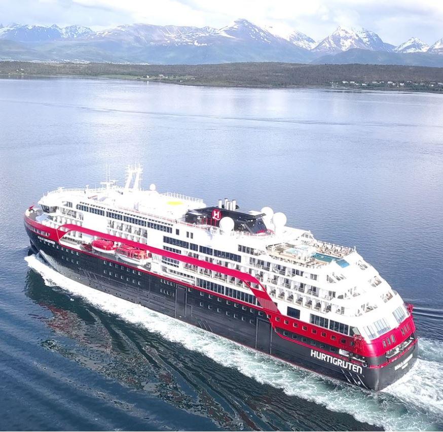 cruise ship sailing on ocean